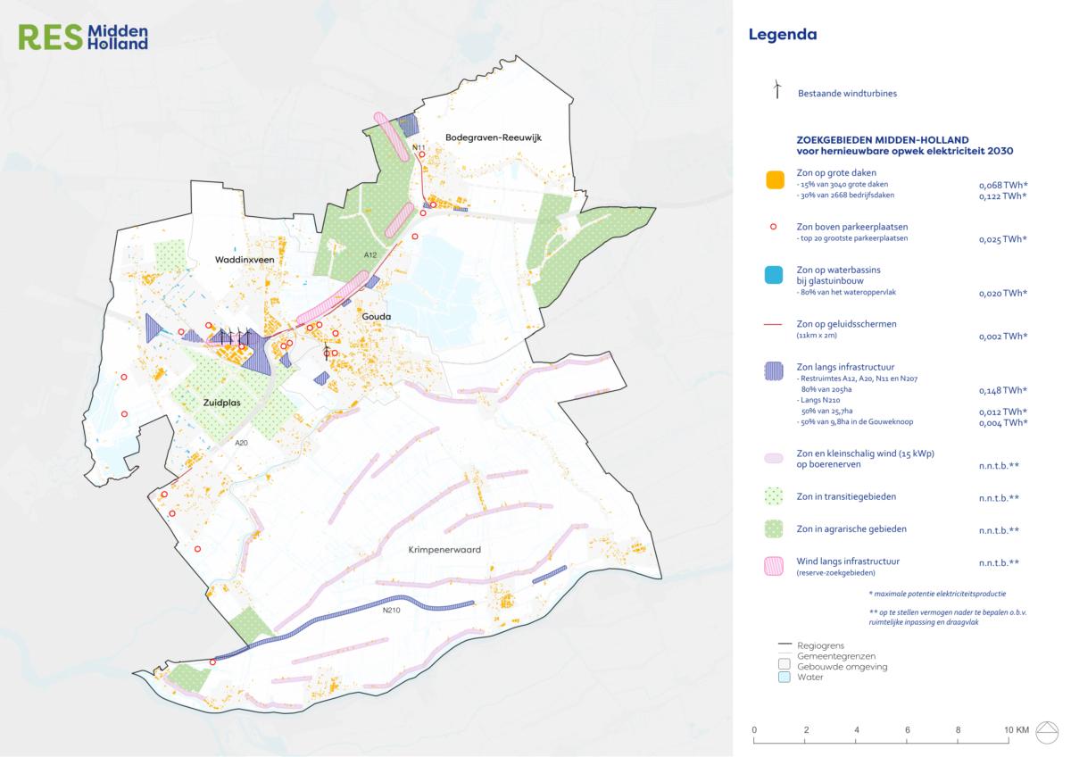 Regio Midden-Holland stelt regionaal energieplan (Regionale Energie Strategie 1.0) vast